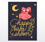 迎婴派对卡片