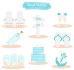 沙滩婚礼元素