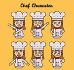 创意女厨师表情