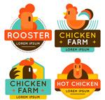 彩色养鸡场标签