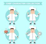 白衣服厨师动作