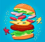 美味动感汉堡包