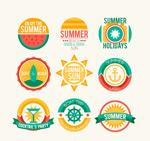 夏日假期标签