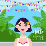 夏季热带女子