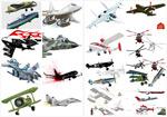 各种飞机造型