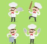 烹饪中的男厨师