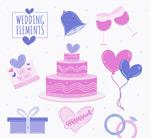 紫色婚礼元素