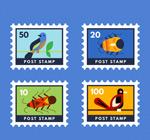 鸟和昆虫邮票