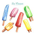 夏季彩色冰棒