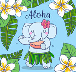 夏威夷跳舞的大象
