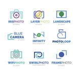 蓝色照相机标志