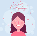微笑的长发女子