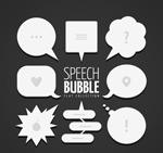扁平化语言气泡