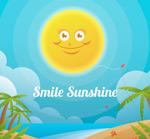 微笑太阳和沙滩
