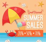 夏季沙滩促销海报