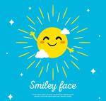 挥手的笑脸太阳