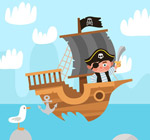 站在船头的海盗