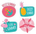 夏季元素贴纸