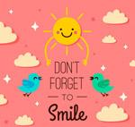 不要忘记微笑插画