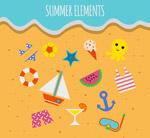 夏季元素矢量