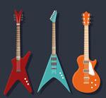 时尚电吉他矢量