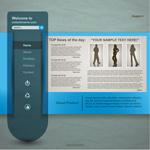 简洁英文网站模板