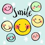 7个彩绘笑脸