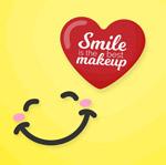 可爱笑脸和爱心