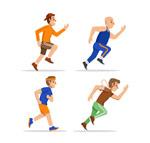跑步健身男子矢量
