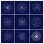 几何线条组合图案