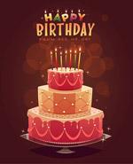 炫彩生日蛋糕海报