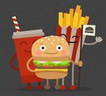 可爱汉堡包套餐