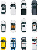 汽车俯视图矢量