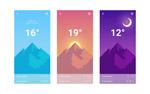 扁平天气UI界面