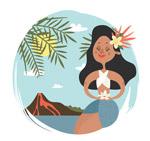 跳舞的夏威夷女子
