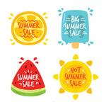 夏季元素促销标签