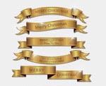 金银色飘带标签