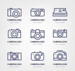 创意照相机标志