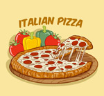 蔬菜和披萨矢量