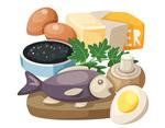 鱼鸡蛋矢量元素