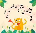吹奏乐器的小怪兽