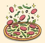 披萨上的原料