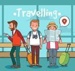 旅行人物设计矢量