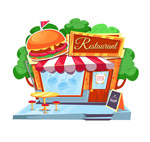 汉堡包快餐店