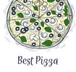 手绘意大利披萨