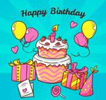 彩绘生日蛋糕气球
