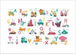卡通字母交通图案