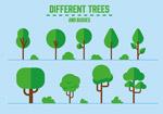 扁平化矢量树木