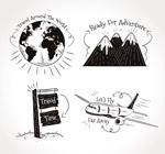 手绘旅行语元素