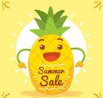 夏季促销笑脸菠萝